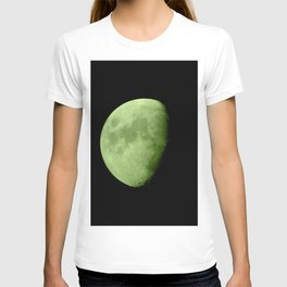 4K Dark Side of the Moon Lime Green T-shirt