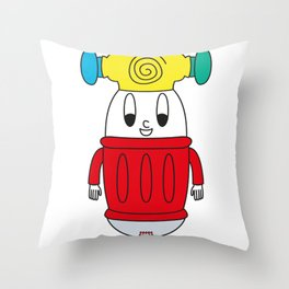 Baby-Hammer Egg Throw Pillow