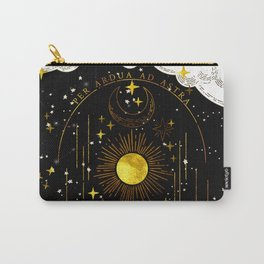 Per Ardua Ad Astra |Sun, Moon and Stars |Divine Witchy Aesthetic Print Carry-All Pouch