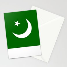 Pakistan national flag Stationery Cards