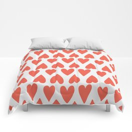 Shapes Nr. 4 - Red Hearts Comforters