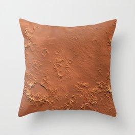 Mars Surface Throw Pillow