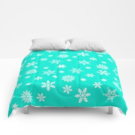 Snow Flurries-Frosty Blue Comforters