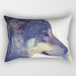 Oil Painting wolf Rectangular Pillow