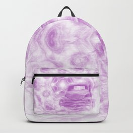 Fractured fractal kaleidoscope with car wreck Backpack