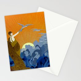 """""""Wings of Victory"""" Art Deco Design Stationery Cards"""