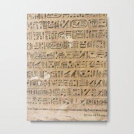 Egypt Hieroglyphs Metal Print