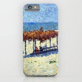 Classical Masterpiece 'Newport, RI - Beach Scene'' by Frederick Childe Hassam iPhone Case