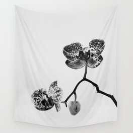 Simply a Orchid   Black & White Photography   Fine Art Photo Print Wall Tapestry