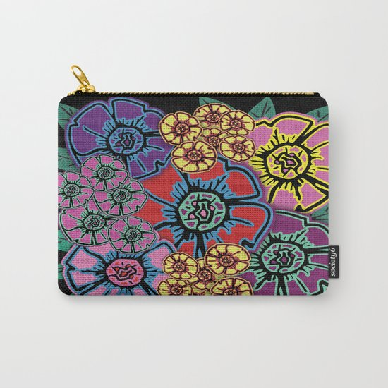 Abstract #408 Flower Power #10 Carry-All Pouch