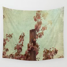 Faded Blossoms Wall Tapestry