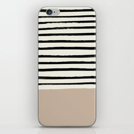 Latte & Stripes iPhone Skin