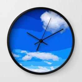 Whispy Sky Wall Clock