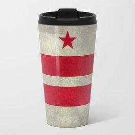 Washington D.C flag with worn textures Travel Mug
