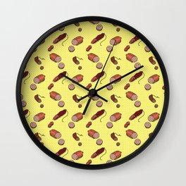 Salami Pattern Wall Clock