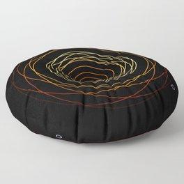 Sacred geometry - Black Hole of M87 Floor Pillow