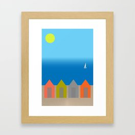 Beach huts - Summer Framed Art Print