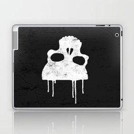 GRUNGE BACKGROUND WITH SKULL Laptop & iPad Skin