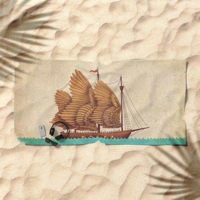 Winged Odyssey Beach Towel