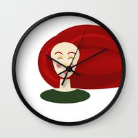 doll Wall Clocks featuring Doll by Catherine A.