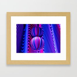 Colours in Invert Glass Ball Framed Art Print