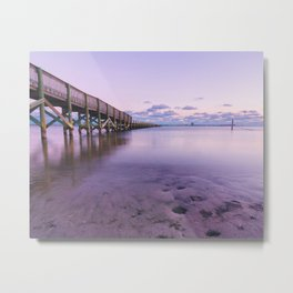 Shoreline Park Pier I Metal Print