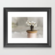 White Violets in a Thimble Framed Art Print