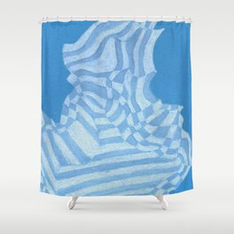 ice cubed Shower Curtain