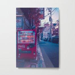 Lone Vendingmachine in Osaka Metal Print