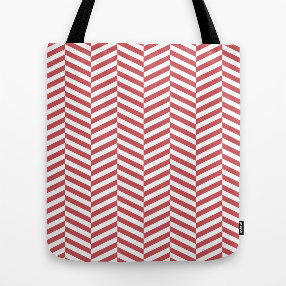 Classic Red Chevron Travel Tote by Namucreative TBG8241636