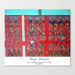 Gran hinchada roja (detalle) por Diego Manuel. Canvas Print