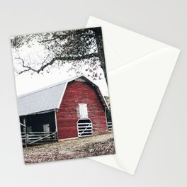 Red Barn Autumn Landscape Photography Stationery Cards