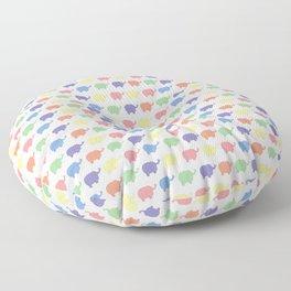 Multi coloured Elephant pattern (pastel) Floor Pillow