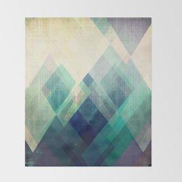 Mountains print, Abstract print, geometric wall art, abstract mountain, minimalist art, modern art, Throw Blanket