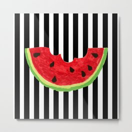 Cool Watermelon Metal Print