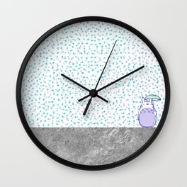 Waiting for Catbus Wall Clock