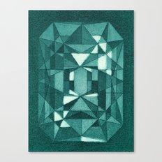 Emerald - Aquatint gemstone Canvas Print