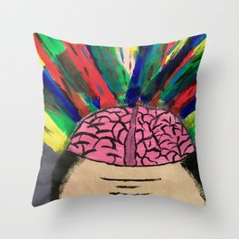 Mind Blowing Throw Pillow
