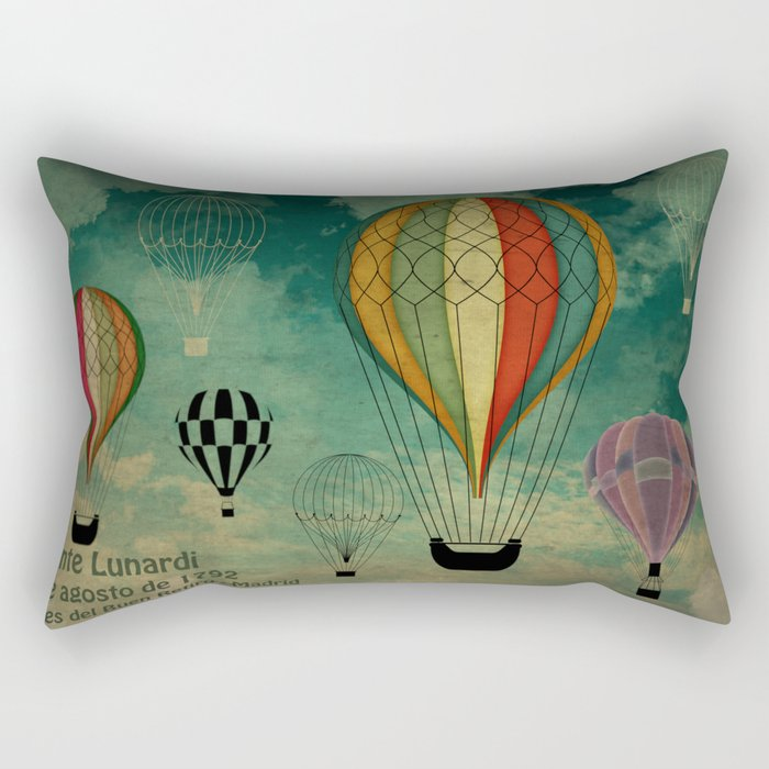 1er vuelo Aerostático en España Rectangular Pillow