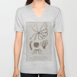 Shrinking frog (Pseudis Merianae) and Black-spotted casque-headed tree (Trachycephalus geographieus) Unisex V-Neck