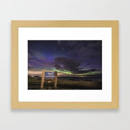 May Aurora at Old Garden Beach Framed Art Print