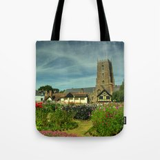 Dunster Church and secret garden Tote Bag
