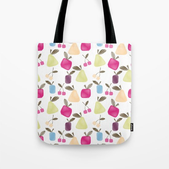 Funny cartoon Fruits Tote Bag