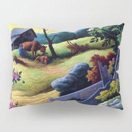 Classical Masterpiece 'June Morning, 1945' by Thomas Hart Benton Pillow Sham