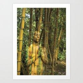 Bamboo Goddess Art Print