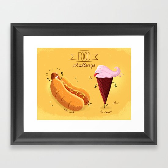 Food Challenge Framed Art Print