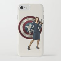 agent carter iPhone & iPod Cases featuring Agent Carter by Tera Sidebottom