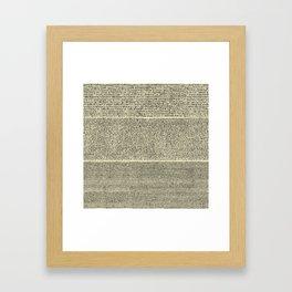 The Rosetta Stone // Parchment Framed Art Print