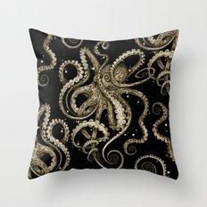 Octopsychedelia Sepia Throw Pillow