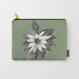 Florida Flower with Green Background Carry-All Pouch